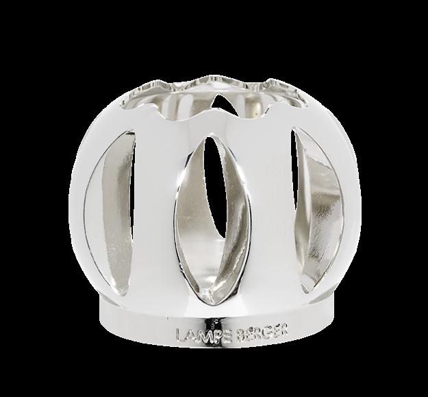Shiny silver ball-shaped mounting